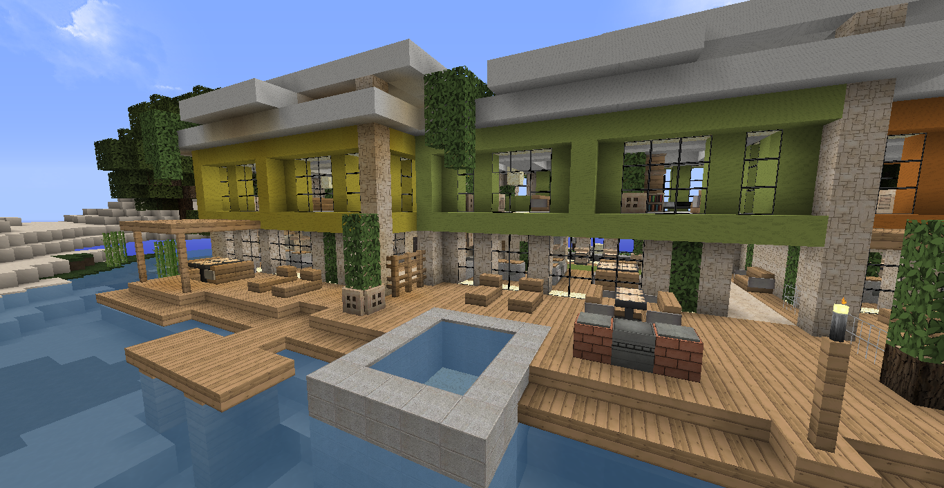 Interieur de maison moderne minecraft maison moderne for Decoration maison minecraft