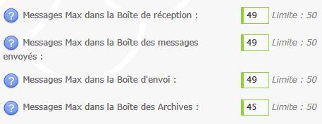 Capacité boite messagerie Modérateurs Forum Messagerie-4324339