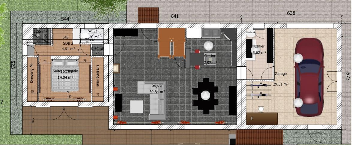 besoin d 39 avis sur plan de maison de 90 20 m2 en r 1 76 messages. Black Bedroom Furniture Sets. Home Design Ideas