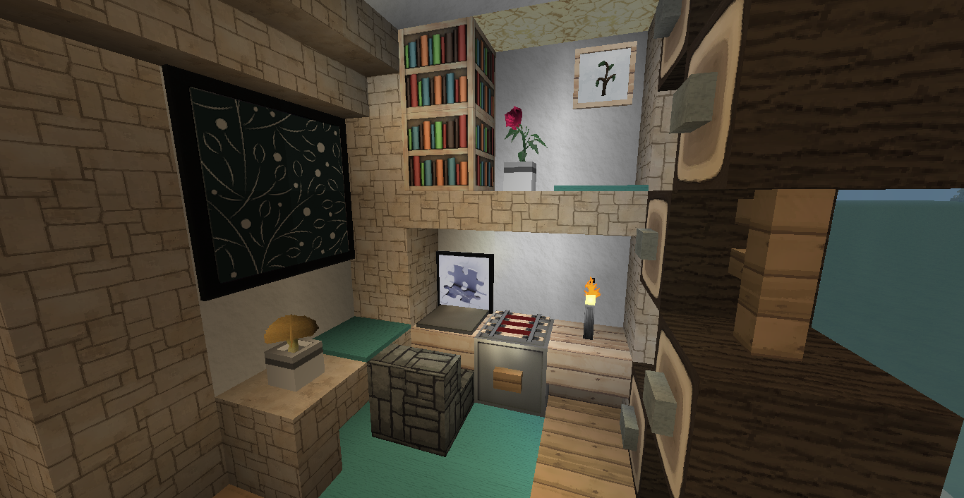 Deco interieur maison moderne minecraft for Decoration interieur maison moderne